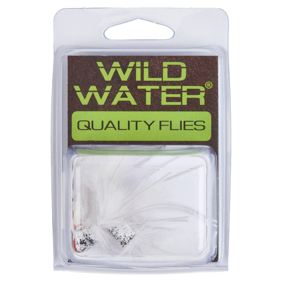 Wild Water White Slider Popper by Pultz Poppers, Size 6, Qty. 4