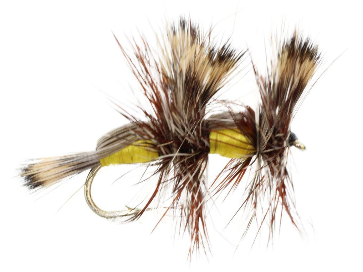 Yellow Double Humpy Dry Fly Pattern | Wild Water Fly Fishing