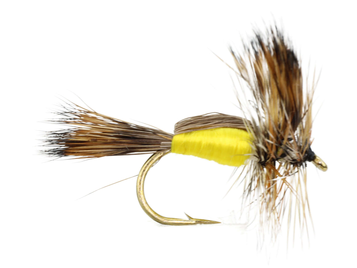 Yellow Humpy Dry Fly Pattern | Wild Water Fly Fishing