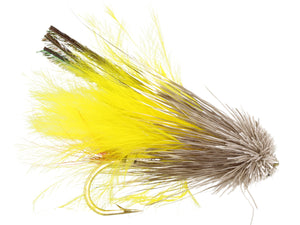 Wild Water Fly Fishing Yellow Marabou Muddler Minnow, Size 8, Qty. 6