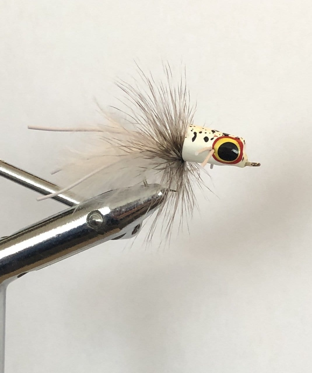 Wild Water White Snub Nose Slider Popper by Pultz Poppers, Size 8, Qty. 4