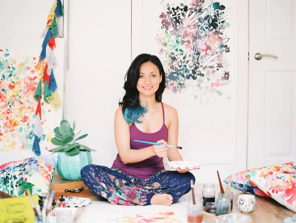 Ingrid Sanchez in her studio