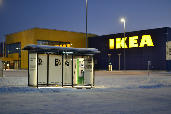 IKEA electric charging station