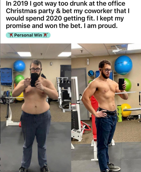 new years resolution before and after