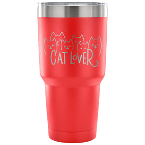 Cat Lover 30 oz Tumbler - Travel Cup, Coffee Mug - KindBrew Coffee