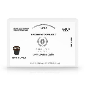 60 Pack Single Serve Coffee Pods (K Cups for Keurig) - KindBrew Coffee
