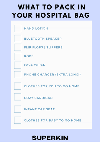 What to pack for hospital bag