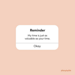 Reminder about time