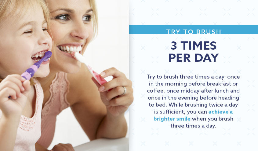 brush three times a day