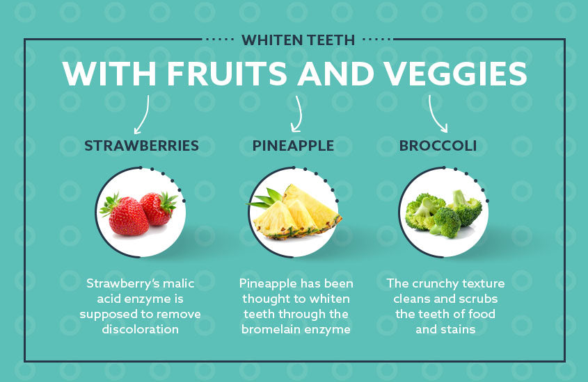 whiten teeth with fruits and veggies