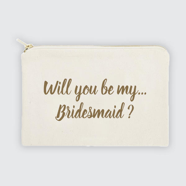 Will You Be My Bridesmaid Canvas Bag