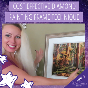 Cost Effective Diamond Painting Frame Technique