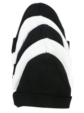Black & White Baby Caps (Pack of 5)