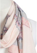 Pink Mix Tribal Print Frayed Long Scarf