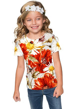 In The Wheat Field Zoe Designer Floral T-Shirt -