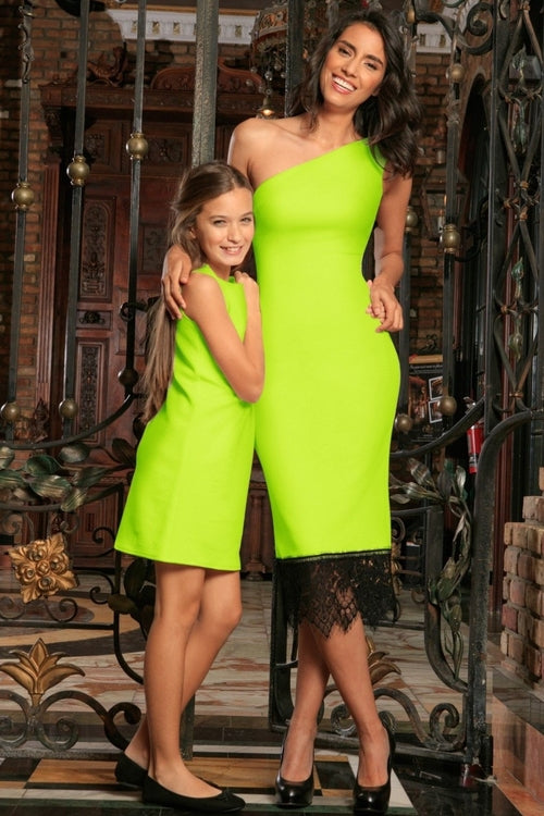 Neon Yellow Stretchy Bright Summer Stylish Mommy