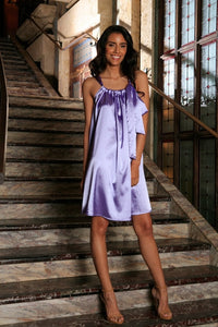 Lavender Halter Swing Spring Summer Party Chic
