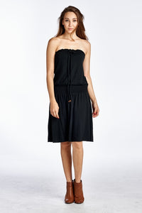 Women's Smock Strapless Dress with Elastic