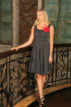 Black Grey Sleeveless Skater Classy Evening Party