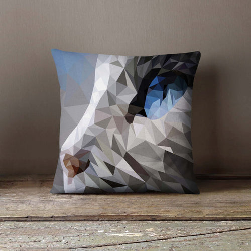 Geometric Cat Polygon Pillowcase | Decorative