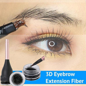 3D Eyebrow Extension Fiber Waterproof Instant Eyebrow Eyelash Hair Extension with Eye Brow Brush for Women and Men Make Up
