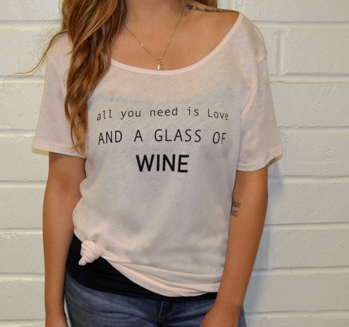Women's tee- Love and Wine classic tee