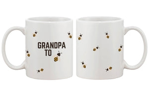 Grandpa To Bee Funny Mug Cup- Cute Design Printed