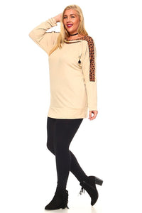 Women's Plus Size Knit Sweater Top With Animal