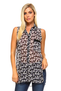 Women's Tank Blouse with Side Slits