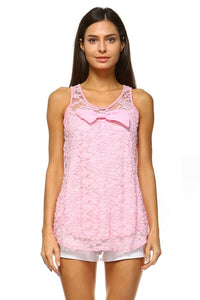 Women's Lace Top with Front Bow