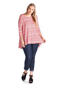 Women's Plus Size Printed Jersey Top