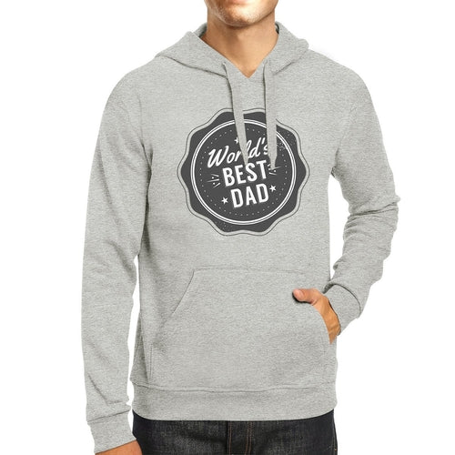 Worlds Best Dad Unisex Grey Funny Design Hoodie
