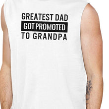 Promoted To Grandpa Men's White Sleeveless Muscle