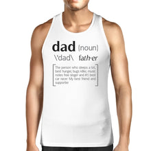 Dad Noun Mens White Graphic Tanks Unique Dad Gifts