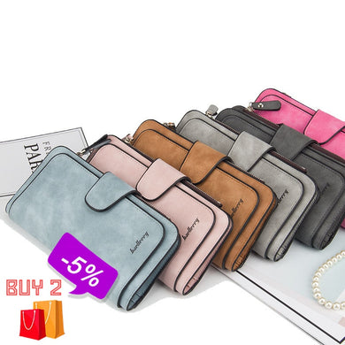 Leather Women Wallets Coin Pocket Hasp Card Holder