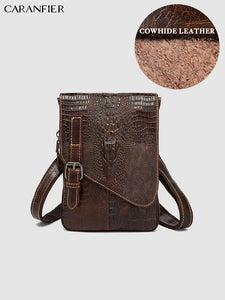 Men's Travel Bags Shoulder Crossbody Crocodile Pattern