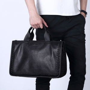 100% Sheepskin Genuine Leather Travel Bag
