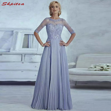 Lavender Mother of the Bride Dresses for Weddings Lace Beaded Evening Prom Groom Godmother Dresses