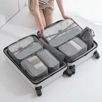 Men Women's Travel Bag Set Clothes Pouch Shoes Case Underwear Box Lunch Tote Cosmetics Organizer Traveling Luggage Accessories