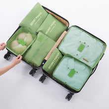 7 pc/set Travel Mesh Bag In Bag Trip Luggage Organizer Accessories