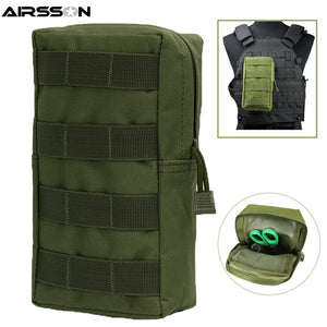 Airsson Airsoft Sports Military 600D MOLLE Pouch Bag Tactical Utility Bags Vest Gadget Hunting Waist Pack Outdoor Equipment