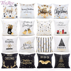 45x45 cm Cotton Linen Merry Christmas Cover Cushion