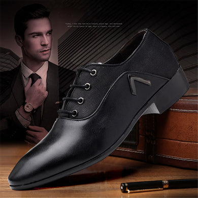 Italian Men's Leather Shoes Luxury Dress