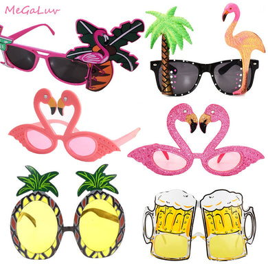 Hawaii Tropical Party Sunglasses Flamingo Party Decor Glasses