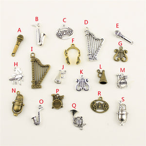 Musical Instrument Horn Microphone Charms Pendant For Jewelry Making Handmade Bracelet Necklace Key Chain Bag Accessories M118