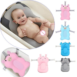 Baby Shower babi Bath Tub Baby Foldable Baby Bath Tub Pad Chair Shelf Newborn Bathtub Seat Infant Support Cushion Mat Bath Mat