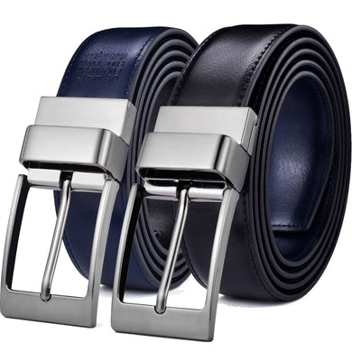 Belts for Men Genuine Leather Reversible