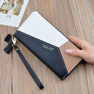 Leather Wallet Women Luxury Long Clutch