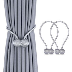 Pearl Magnetic Ball Curtain Simple Tie Rope Backs Hold back Buckle Clips