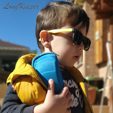 Polarized Kids Sunglasses with Case Children Silicone Safety Sun Glasses